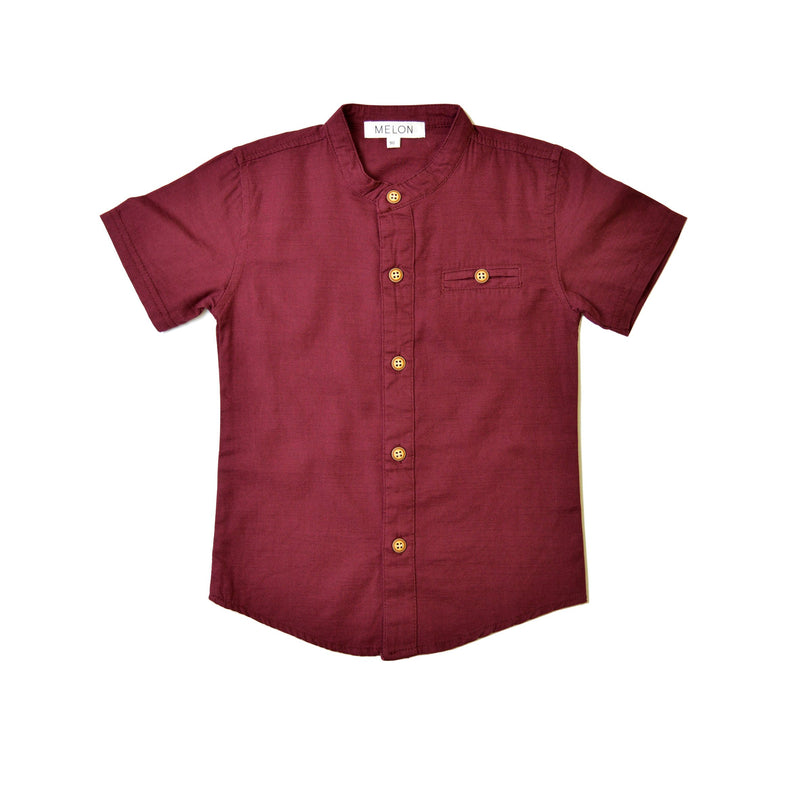 *Hot Fave* Grandad Shirt, Wine