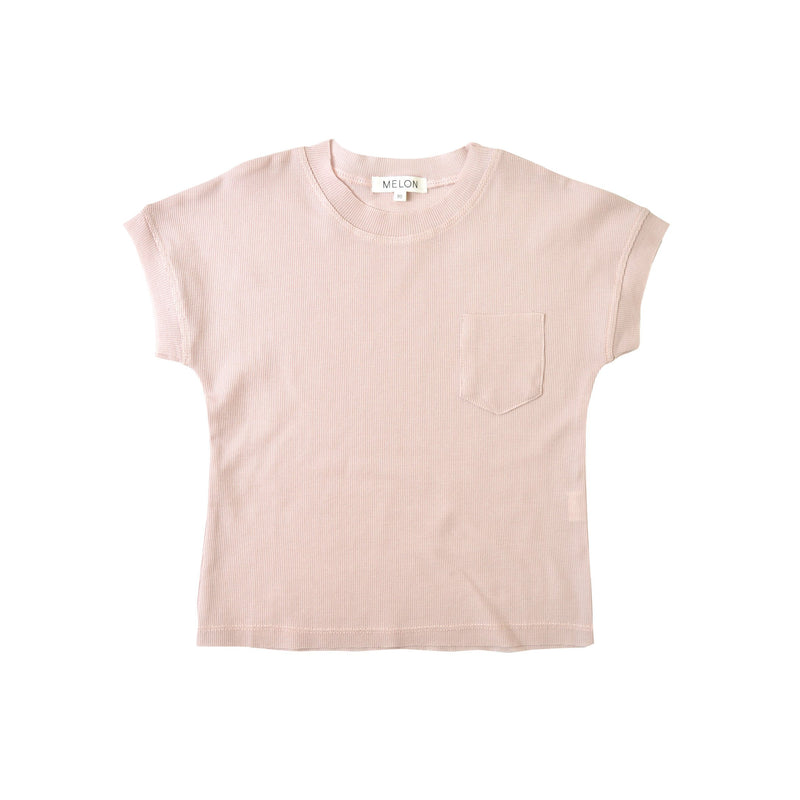 MELON Kids Girl Cool Knit Top, Crepe Pink