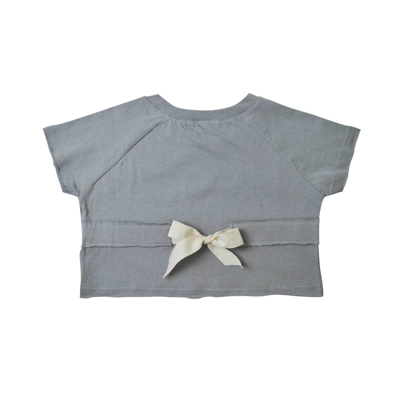 MELO Kids Girl Cotton Top, Coin grey