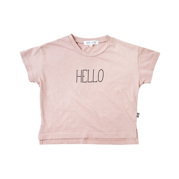 Kids  Cotton Graphic Top, Crepe pink
