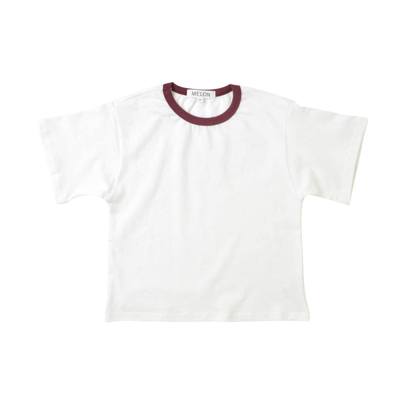 MELON Kids Boy Cotton Top, Daisy with Currant Neckline
