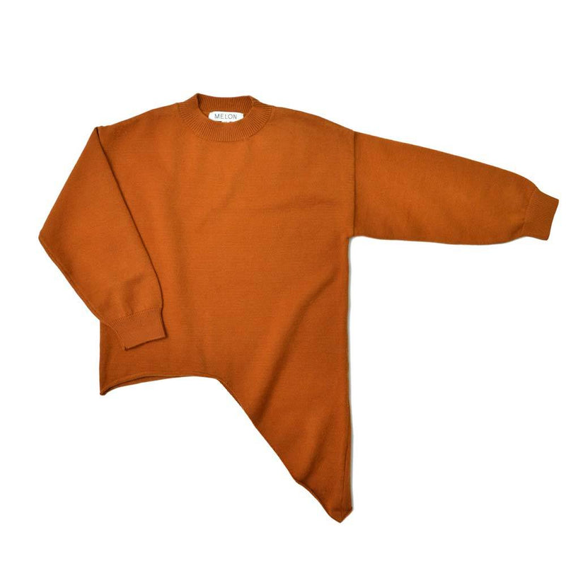 Cotton Knit Sweater, Marmalade