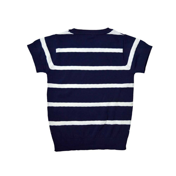 *Size 120 only* Cool Cotton Knit Top, Navy