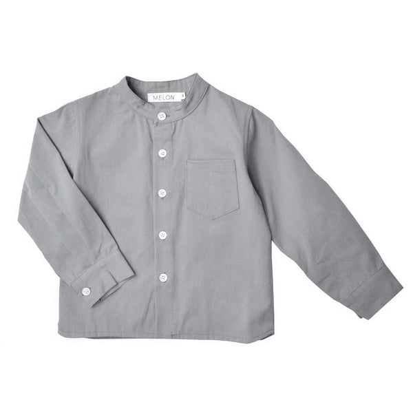 Long Sleeve Grandad Shirt, Anchor