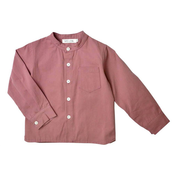 Long Sleeve Grandad Shirt, Grape