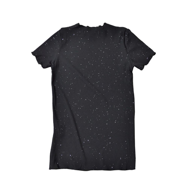 *Size 120 only* Lightweight Cotton Top, Ebony with shimmer
