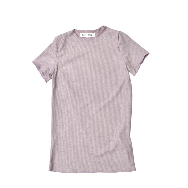 *Size 130 & 140 only* Lightweight Cotton Top, Periwinkle with shimmer
