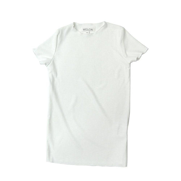 MELON Kids Girl Lightweight Cotton Top, Daisy White with Shimmer