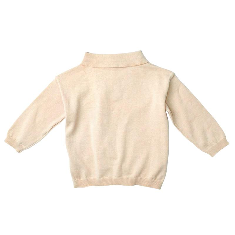 *Size 110 & 130 only* Cotton Knit Top, Buttermilk