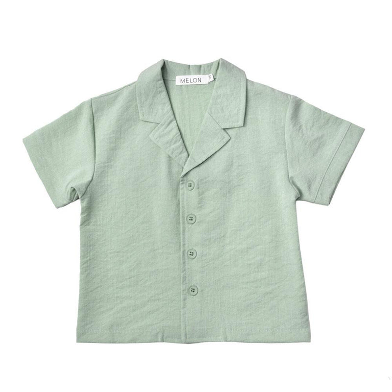 MELON Kids Boy Relaxed Shirt, Mint Green