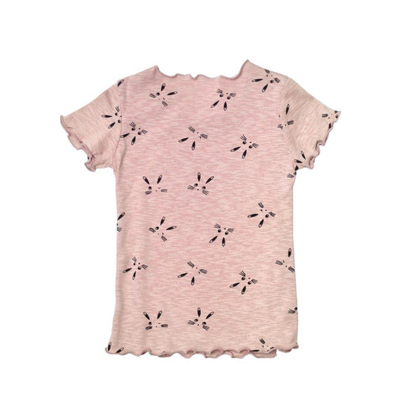 *Size 90 only* Lightweight Cotton Top, Blush with prints