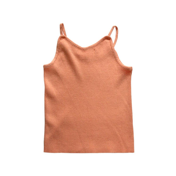 MELON Kids Knitted Tank Top, Apricot Orange