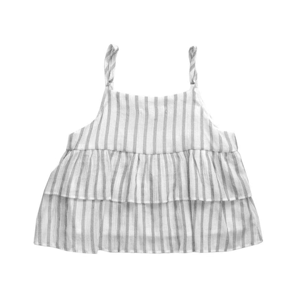 Melon Kids Babydoll Top, Pearl with Stripes