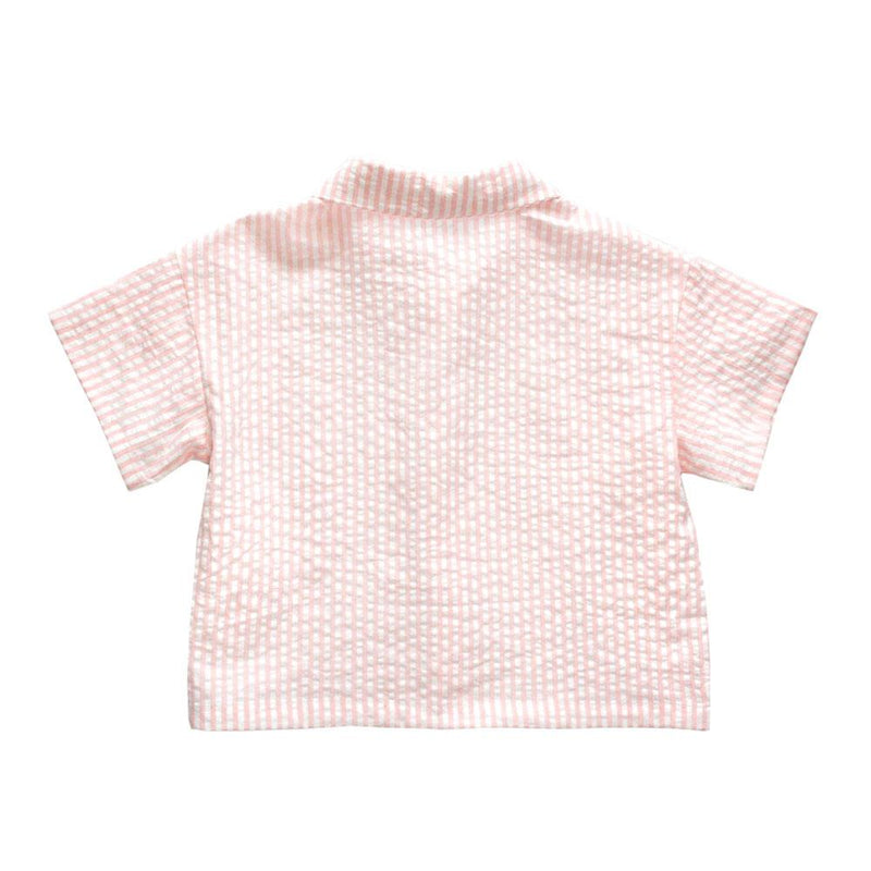 Boxy Relaxed Shirt, Blush with stripes