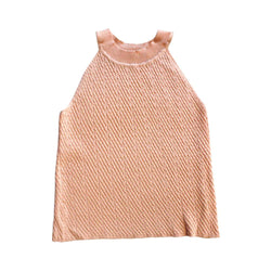 *Last Piece* Cable Knit Halter Top, Coral