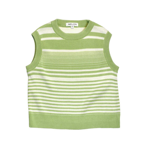 MELON Kids Boy/Girl Cotton Knit Vest, Avocado Green