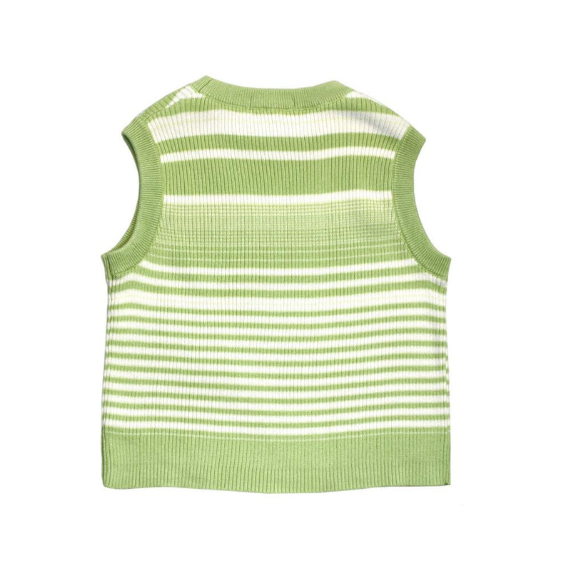 Cotton Knit Vest, Avocado