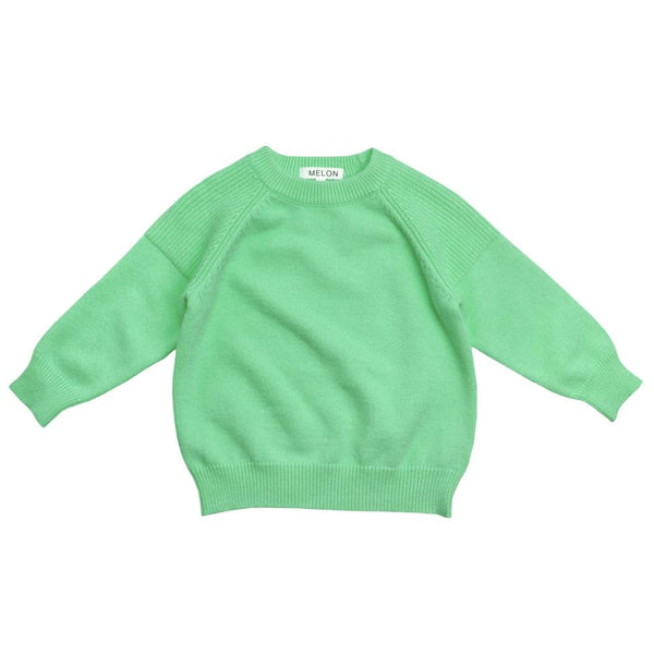 Cotton Knit Jumper, Lime