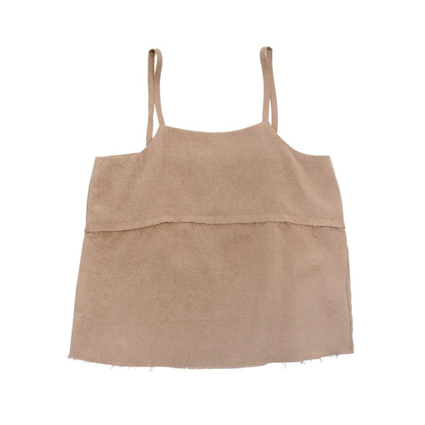 MELON Kids Girl Boxy Tank Top, Latte Brown
