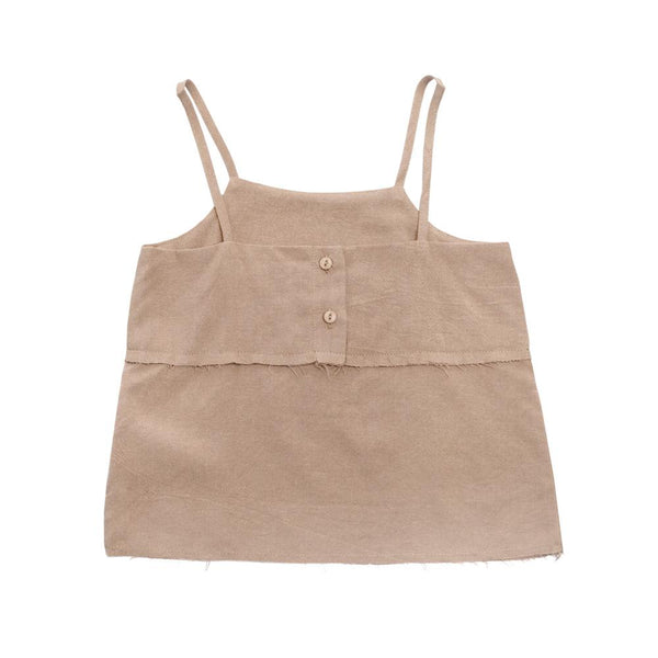 Boxy Tank Top, Latte