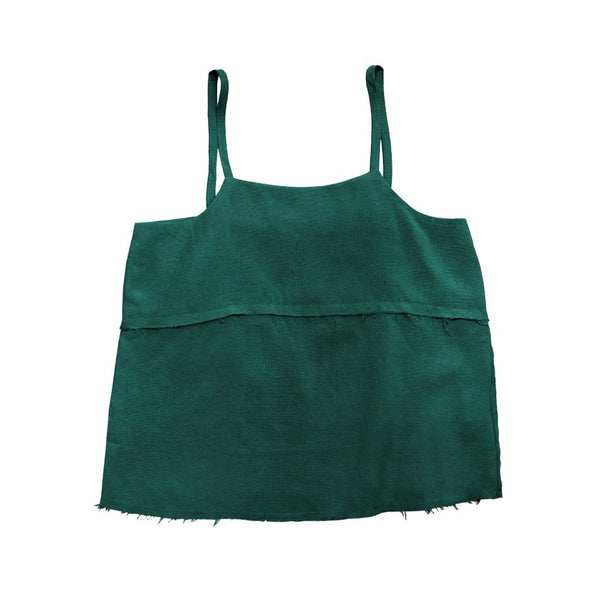 MELON Kids Girl Boxy Tank Top, Basil Green
