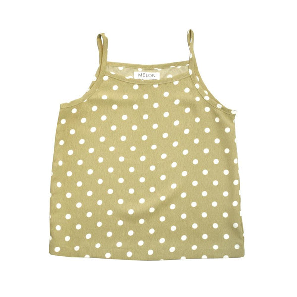Polka Dots Tank Top, Pear
