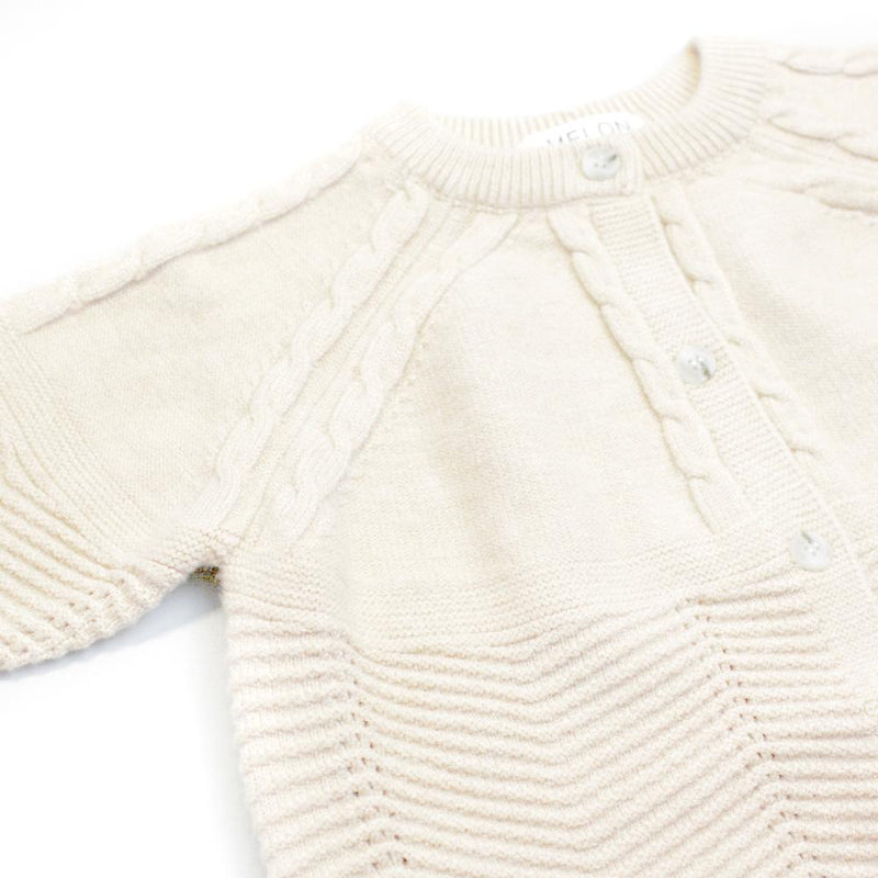 Cable Knit Cardigan, Porcelain