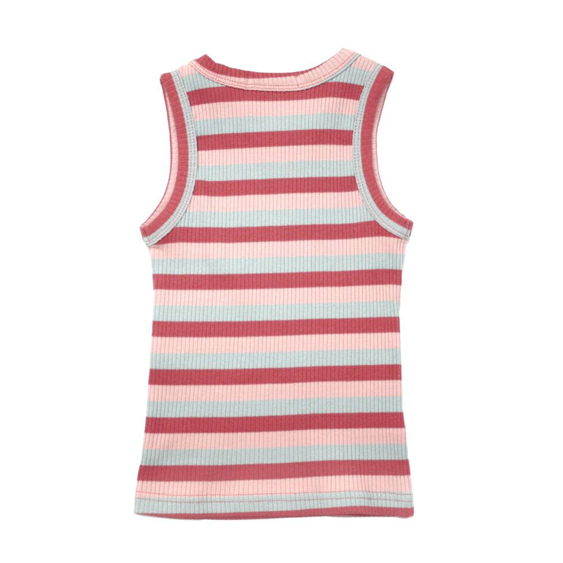 Cotton Ribbed Tank Top, Apple Red