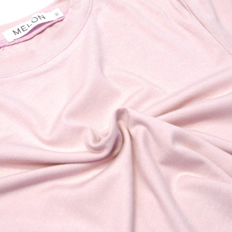 *NEW* Soft Cotton Basic Tee, Rose Pink