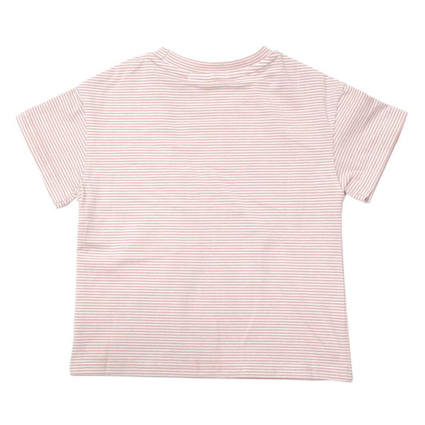 *NEW* Cotton Stripes Tee, Blush Pink