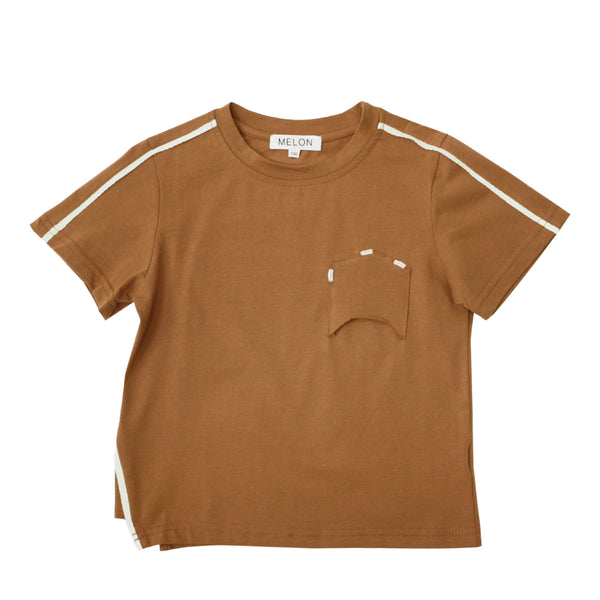 Soft Cotton Top, Tawny Brown