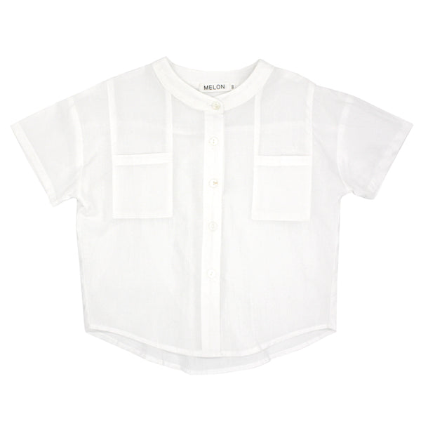 *Hot Fave* Boxy Grandad Shirt, Daisy White