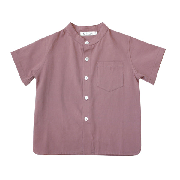 Boxy Grandad Shirt, Grape Purple