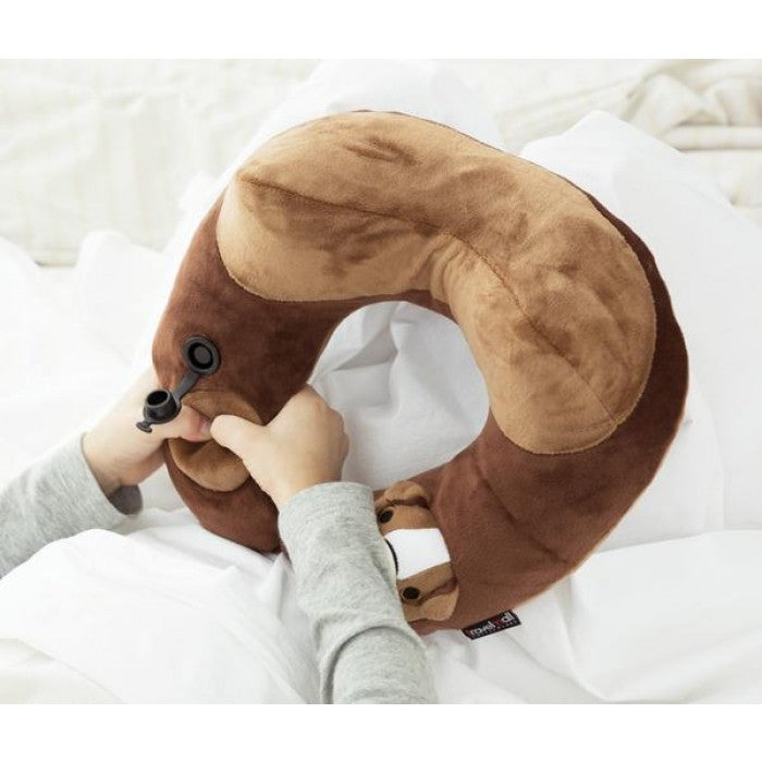 BULL DOG KID'S INFLATABLE NECK PILLOW