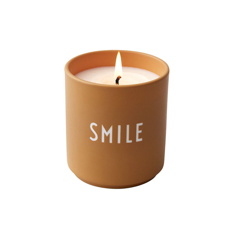 Design Letters Scented Candle, Large (Nude)