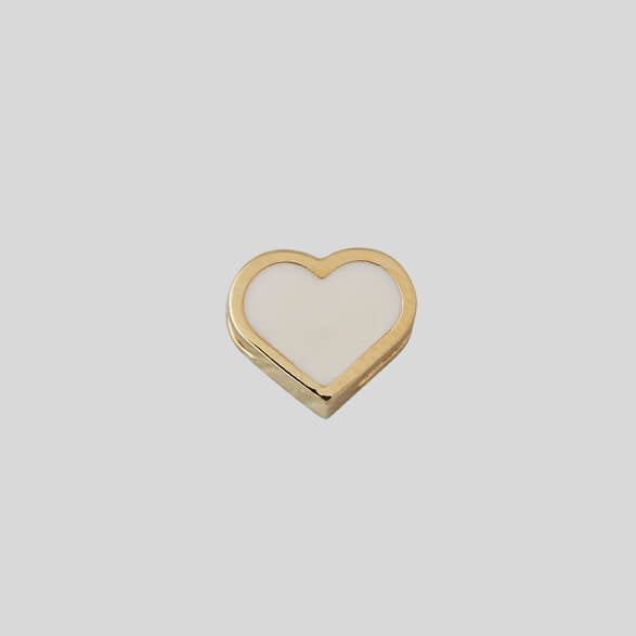 Design Letters Heart Charm, Gold