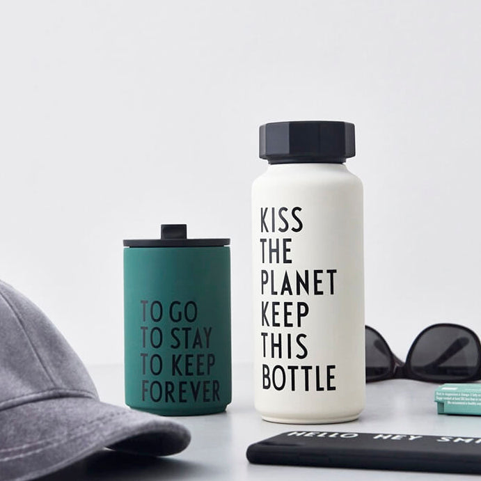 Design Letters Thermo/Insulated Bottle (500ml), Special Edition White
