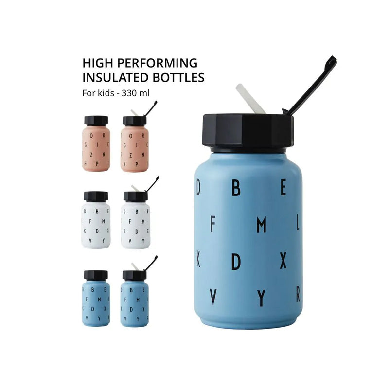 Design Letters Kids Thermo/Insulated Bottle (330ml), Blue