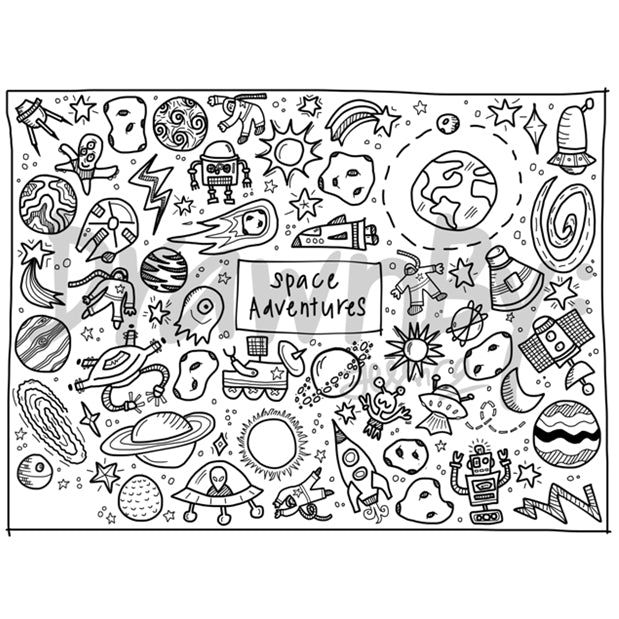 DrawnBy: Washable Silicone Mats (Available in 12 Designs and includes 14-pc markers)