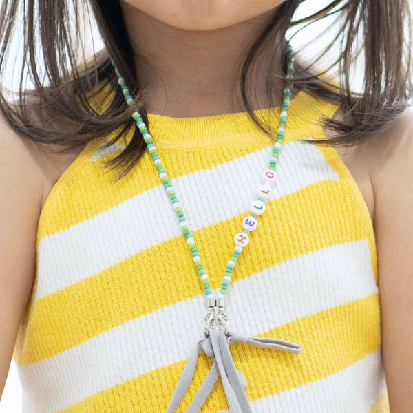 JOY Versi Kids Face Mask Chain, Green + White