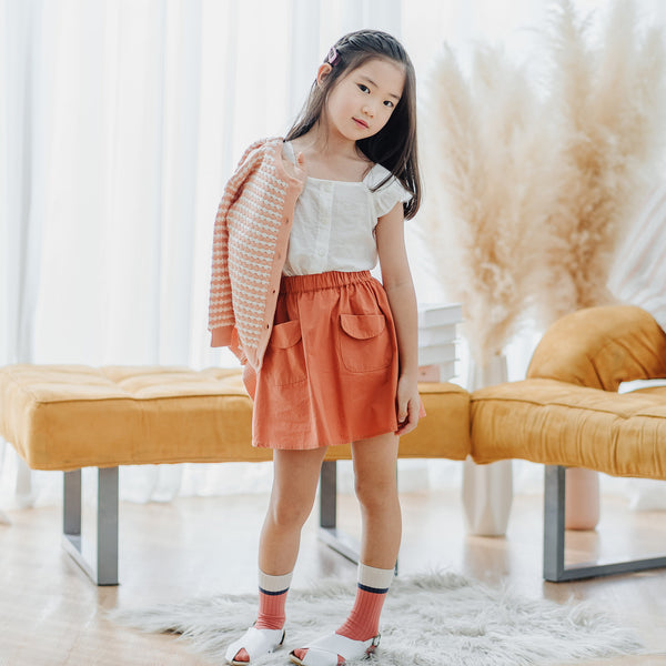 Flare Mini Skirt, Carrot Orange