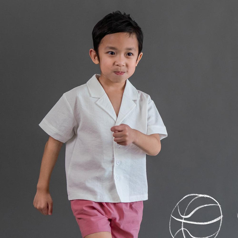 MELON Kids Relaxed Shirt, Daisy White