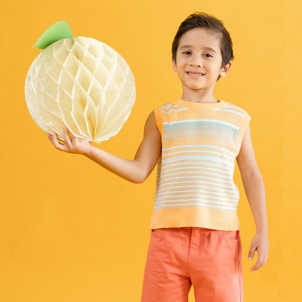 MELON Kids Boy/Girl Cotton Knit Vest, Tangerine Orange