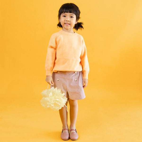 Cotton Knit Jumper, Tangerine