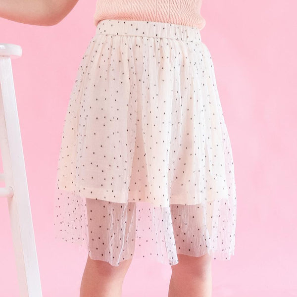 MELON Kids Girl Tulle Skirt, Porcelain White