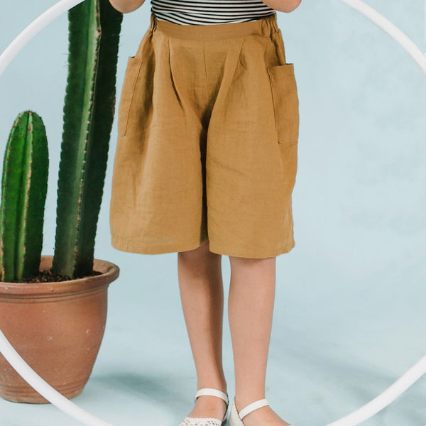 *Size 100 & 120 only* Linen Culottes, Dijon