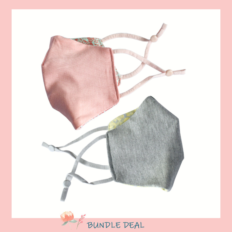 Bundle of 2: Mask-Have Reversible Bamboo Cotton Jersey Mask