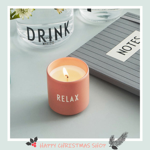 Design Letters Scented Candle, Small (Nude)