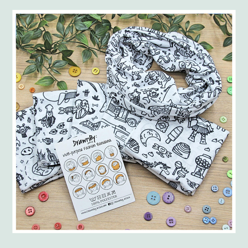 DrawnBy: Multi-Purpose Fashion Bandana (Child)