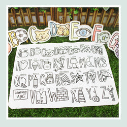 DrawnBy: Learning Mats (Available in 3 Designs and includes 14-pc markers)